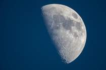 waxing gibbous Moon during daylight