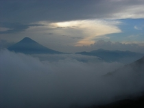 Were posting volcanoes in Guatemala Heres the view from atop Volcan Pacaya in