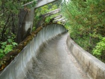 Winter Olympics bobsleigh track in Sarajevo