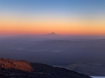 WyEast amp sunset layers from Lunch Counter Mount Adams Washington State USA  x