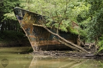 year old ghostship in a creek near Cincinnati OH