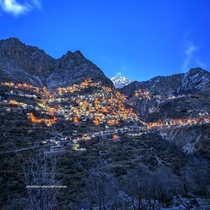 year old Kurdish mountain village of Uraman Takht Throne of Ahura Mazda Iranian Kurdistan