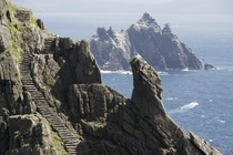 year old monk stairwell on the Skellig Islands where Star Wars Ep VII and Ep VIII were filmed