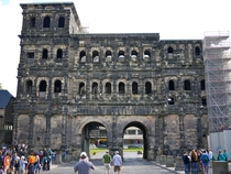 year old Roman city gate Trier Germany