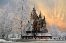 year old stave church made entirely from wood without a single nail located in Borgund Nord-Trondelag Norway