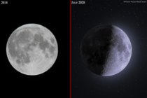 year Progress with the same cheap entry-level gear Left image is the first time I ever captured the Moon Right one is in  when I merged  Exposures of the Moon using a technique called Stacking