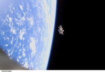 years ago astronauts aboard the ISS released an unneeded spacesuit filled with old clothes and fitted with a weak radio transmitter into space It orbited the Earth for a few weeks before burning up