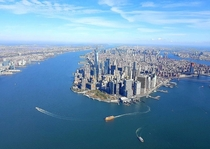 years ago I flew over Manhattan by helicopter and was able to take this beautiful photo