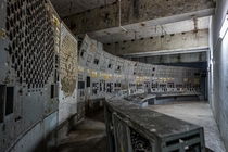 years ago on April  The reactor  of the Chernobyl powerplant exploded Here is its control room inside the protective shelter OCMarch