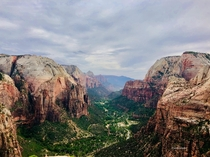 Zion from the top of Angels Landing