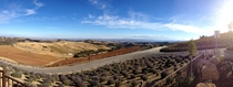 A beautiful autumn day in Paso Robles California View from DAOU Vineyards