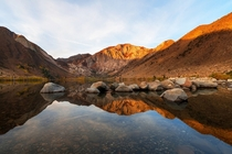 A beautiful autumn morning at convict lake By Sribha Jain