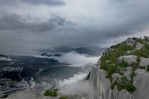 A beautiful Cloudy day over Squamish BC Canada from Stawamus Chief -  -