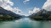 A beautiful day at Waterton Lake in Waterton Alberta