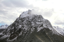 A beautiful folded mountain I photographed in Ushuaia Argentina