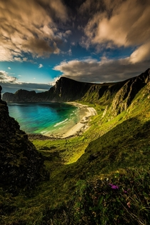 A beautiful hidden beach in Hawaii No wait this is Norway  Photo by Terje Nilssen
