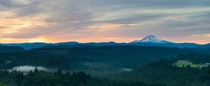 A beautiful morning at Mt Hood from Jonsurd viewpoint Oregon