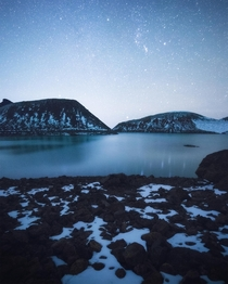 A beautiful night at a glacial lake in central Oregon