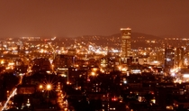 A beautiful rainy evening shot of Portland OR from the West Hills