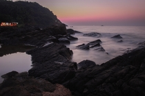 A beautiful serene sunset at Kudle Beach Gokarna India
