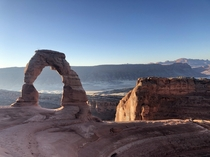 A beautiful sight at Arches National Park Utah