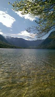 A beautiful spot at the Bohinj Lake Slovenia