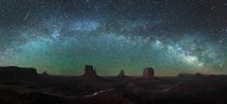 A beautiful starscape over the Monument Valley  photo by Mike Mezeul II x-post rUnitedStatesofAmerica