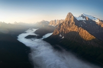 A beautiful sunrise above the Canadian Rockies