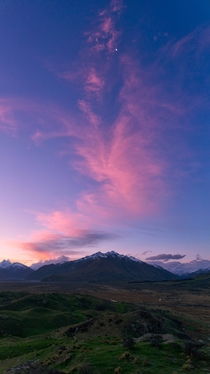 A beautiful sunset at Mount Sunday Canterbury New Zealand last night - better known as the location for Edoras in LOTR