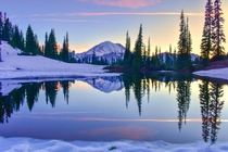 A beautiful sunset captured at MtRainier National Park in June