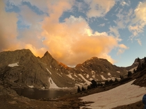 A beautiful sunset in the Wind River mountain range WY