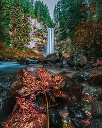 A beautiful waterfall at brandywine british columbia vancouver bc