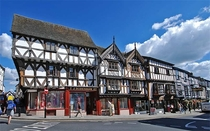 A beautiful  year old Tudor hotel as it stands today on the high street of Ludlow England  x