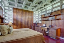 A bedroom in Frank Lloyd Wrights  Toufic H Kalil House Manchester NH