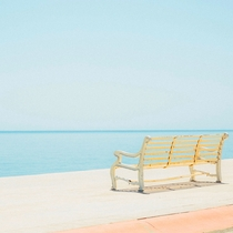 A bench to sit and stare at your horizonLa Paz Baja California Sur