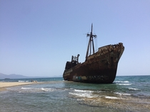 A better shot I took of the beached smugglers ship I saw in Greece