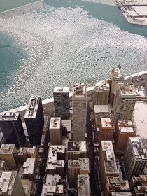 A BIRDS EYE VIEW OF CHICAGO  x