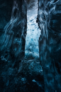 A bit abstract but heres a shot I took from inside an ice cave in Iceland for an article in Iceland Airs Stopover magazine Had to reduce the resolution for file size limit   x
