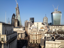 A blend of the old and new - the Bank of England and City of London