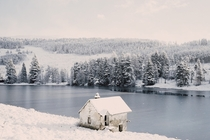 A boathouse in Cairngorms National Park Scotland  Photographed by Ruairidh McGlynn