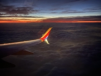 A breathtaking daybreak over Houston makes the early departure worthwhile
