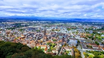 A Breathtaking View of Freiburg from the top of the Tower of Schlossberg