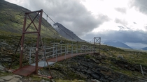 A bridge I walked across while hiking in North Sweden