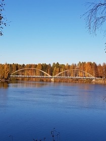 A bridge in Lieksa Finland