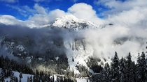 A Brief Break in the Clouds Near Snoqualmie Pass WA