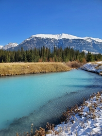 A bright sulphur pond Canmore AB