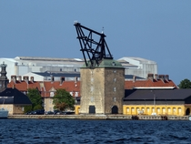 A  build crane used for mounting masts to large sailing vessels Copenhagen Denmark