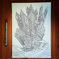 A building sketch from a dream