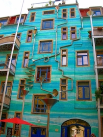 A Building That Plays Music When It Rains in Dresden Germany  by Annette Paul and designers Christoph Rossner and Andr Tempel