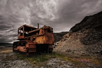 A bulldozer left for dead in Iceland  by orsteinn H Ingibergsson